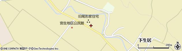 山形県上山市下生居170周辺の地図