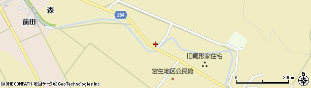 山形県上山市下生居390周辺の地図
