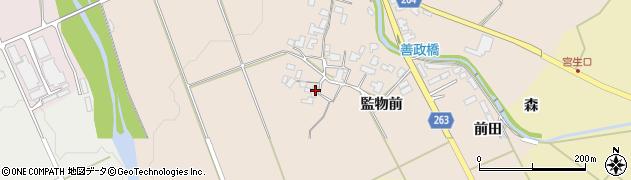 山形県上山市宮脇1053周辺の地図