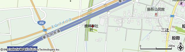 山形県上山市藤吾道上814周辺の地図