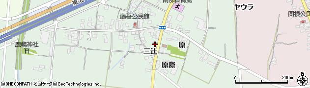 山形県上山市藤吾三辻446周辺の地図