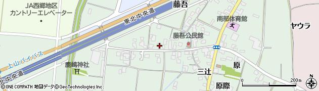 山形県上山市藤吾4周辺の地図
