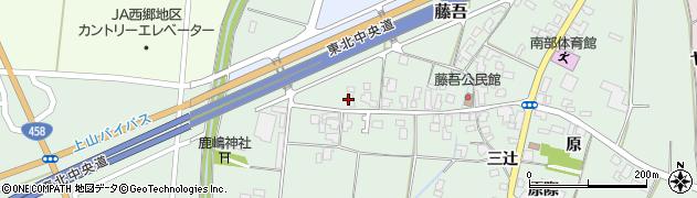 山形県上山市藤吾1周辺の地図