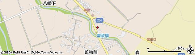 山形県上山市宮脇380周辺の地図