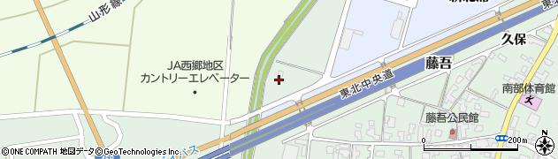 山形県上山市藤吾北浦周辺の地図