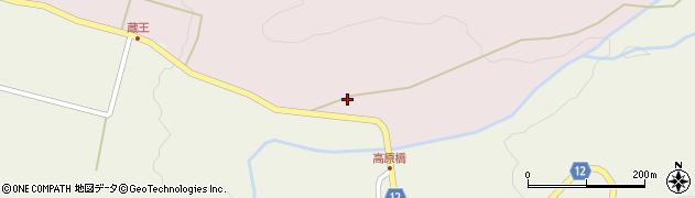 山形県上山市永野蛇柳周辺の地図