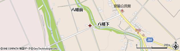 山形県上山市宮脇白山裏周辺の地図