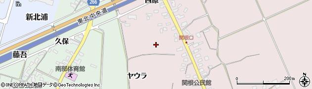 山形県上山市関根(下原)周辺の地図