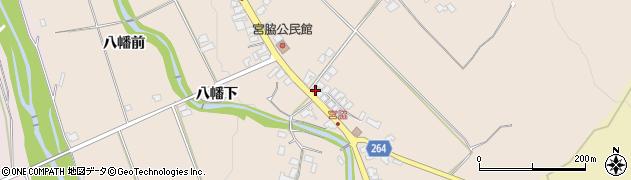 山形県上山市宮脇向田周辺の地図