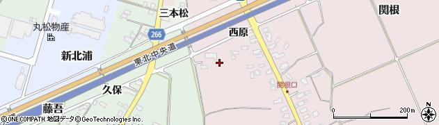 山形県上山市関根ヤウラ周辺の地図