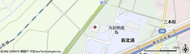 山形県上山市新北浦周辺の地図