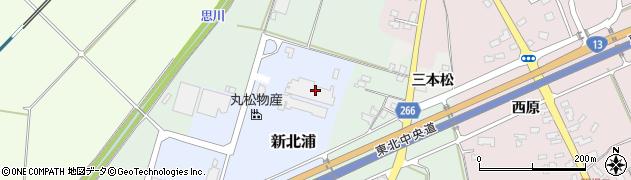 山形県上山市新北浦3周辺の地図