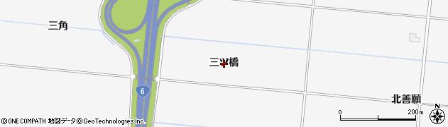 宮城県名取市本郷(三ツ橋)周辺の地図