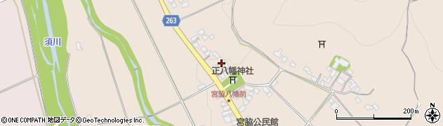 山形県上山市宮脇52周辺の地図