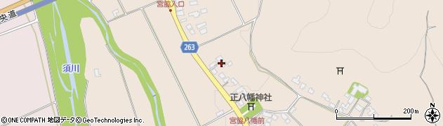 山形県上山市宮脇45周辺の地図