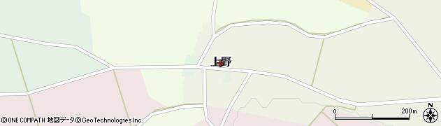新潟県関川村(岩船郡)上野周辺の地図