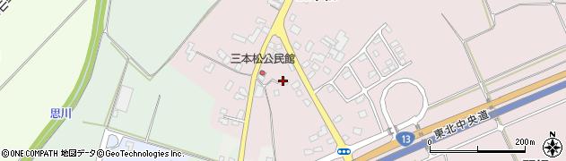 山形県上山市三本松周辺の地図