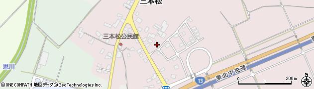 山形県上山市三本松540周辺の地図