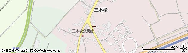 山形県上山市三本松101周辺の地図