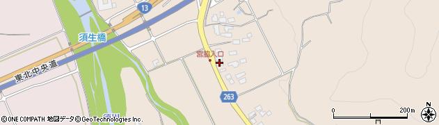 山形県上山市宮脇27周辺の地図