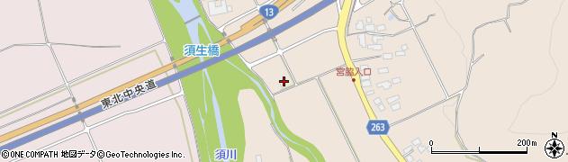 山形県上山市宮脇420周辺の地図