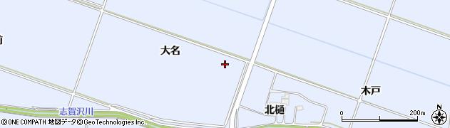 宮城県名取市愛島北目(大名)周辺の地図