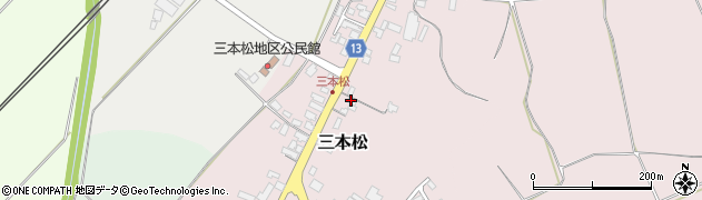 山形県上山市三本松121周辺の地図