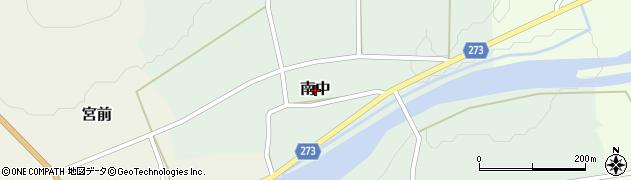 新潟県関川村(岩船郡)南中周辺の地図