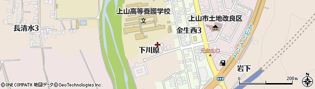 山形県上山市宮脇下川原628周辺の地図