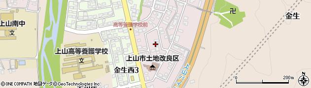 山形県上山市金生東周辺の地図