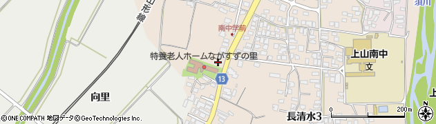 山形県上山市長清水2丁目周辺の地図