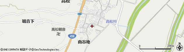 山形県上山市高松82周辺の地図