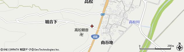 山形県上山市高松603周辺の地図