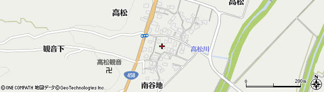山形県上山市高松83周辺の地図