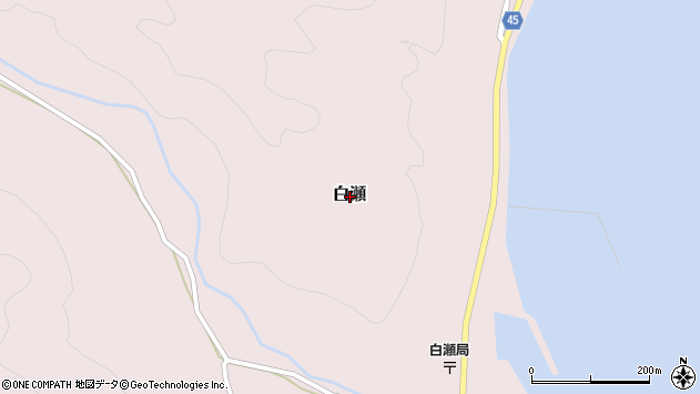 〒952-0001 新潟県佐渡市白瀬の地図