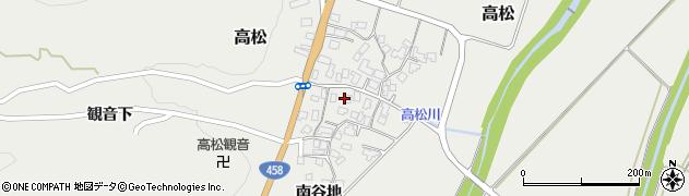 山形県上山市高松118周辺の地図