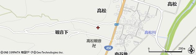山形県上山市高松51周辺の地図