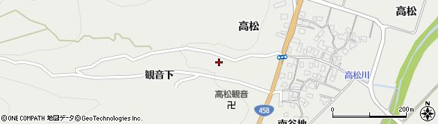 山形県上山市高松1周辺の地図