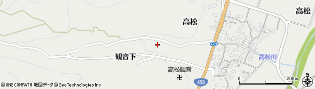 山形県上山市高松42周辺の地図