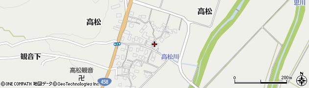 山形県上山市高松97周辺の地図