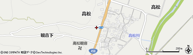 山形県上山市高松57周辺の地図