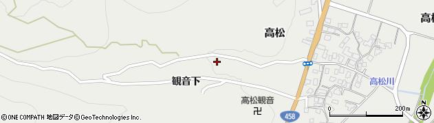 山形県上山市高松40周辺の地図