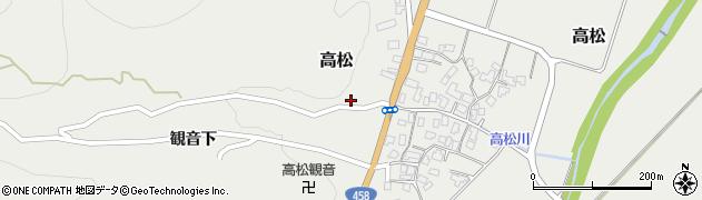 山形県上山市高松44周辺の地図