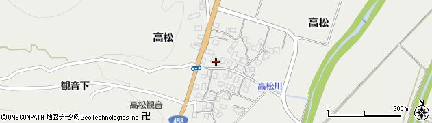 山形県上山市高松113周辺の地図