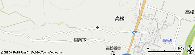 山形県上山市高松38周辺の地図