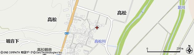山形県上山市高松100周辺の地図