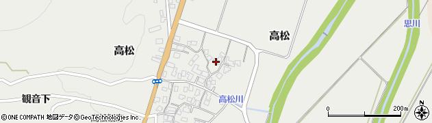 山形県上山市高松102周辺の地図