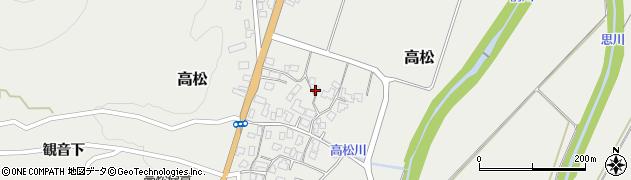 山形県上山市高松103周辺の地図