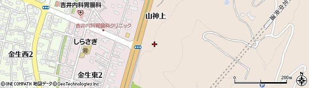 山形県上山市金生(金沢)周辺の地図