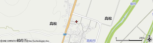 山形県上山市高松127周辺の地図
